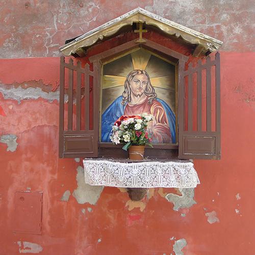 Zweifel (Jesus, Bett, Schrank, Vase)
